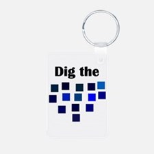 Dig the Blues Aluminum Photo Keychain