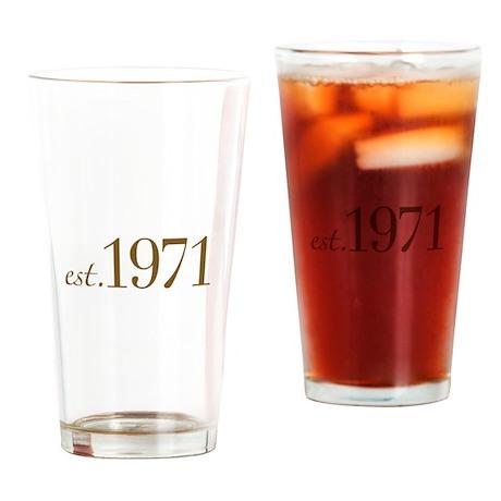 Est 1971 (Birthday) Drinking Glass