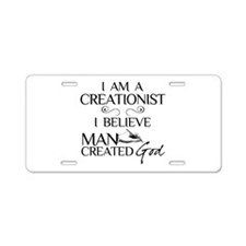 I Am A Creationist Aluminum License Plate