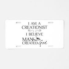 I Am A Creationist Aluminum License Plate
