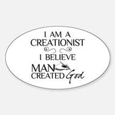 I Am A Creationist Sticker (Oval)