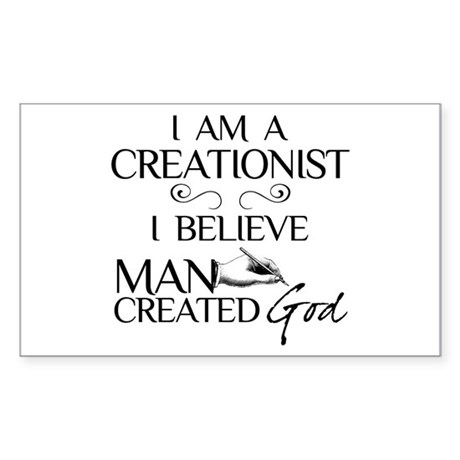 I Am A Creationist Sticker (Rectangle)