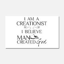 I Am A Creationist Car Magnet 20 x 12