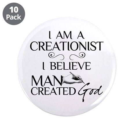 """I Am A Creationist 3.5"""" Button (10 pack)"""