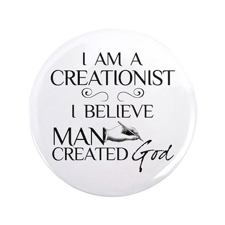 "I Am A Creationist 3.5"" Button"