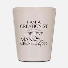 I Am A Creationist Shot Glass