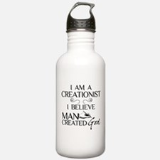 I Am A Creationist Water Bottle
