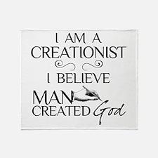 I Am A Creationist Throw Blanket