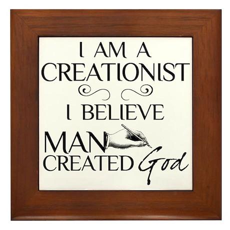 I Am A Creationist Framed Tile