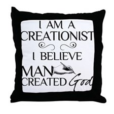 I Am A Creationist Throw Pillow
