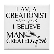 I Am A Creationist Tile Coaster