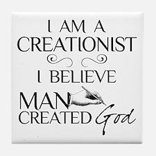 I Am A Creationist Tile Coaster