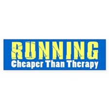 Running Cheaper Than Therapy Car Sticker