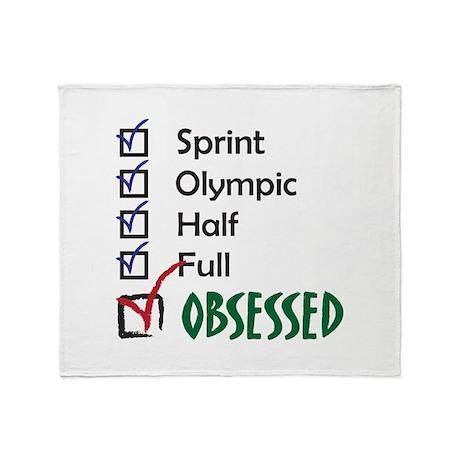 Obsessed Triathlon Throw Blanket