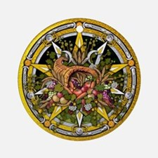 Mabon Pentacle Ornament (Round)