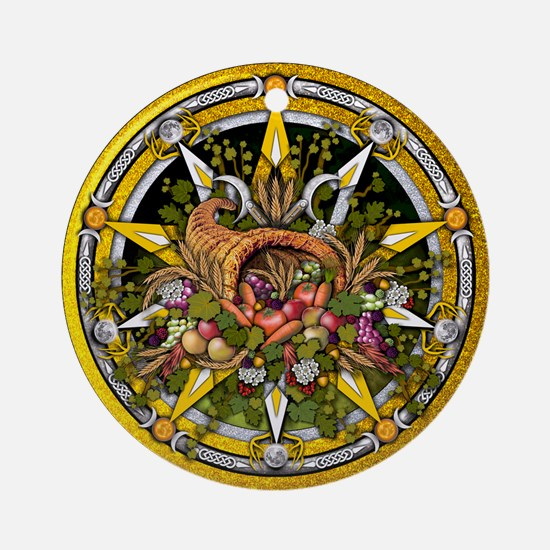 Mabon Pentacle Ornament Round