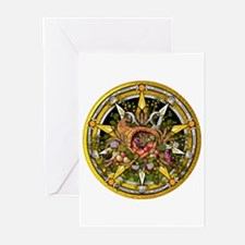 Mabon Pentacle Greeting Cards (Pk of 20)