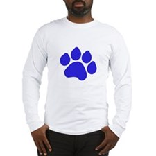 Blue Paw Print Long Sleeve T-Shirt