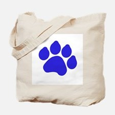 Blue Paw Print Tote Bag