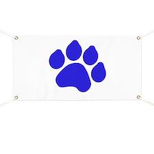Blue Paw Print Banner