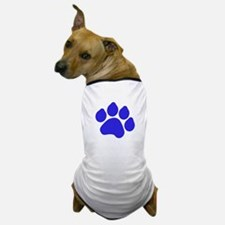 Blue Paw Print Dog T-Shirt