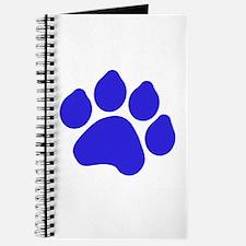 Blue Paw Print Journal