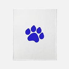 Blue Paw Print Throw Blanket