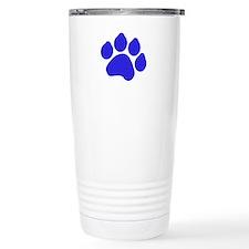 Blue Paw Print Travel Mug