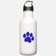 Blue Paw Print Sports Water Bottle