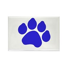 Blue Paw Print Rectangle Magnet