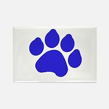 Blue Paw Print Rectangle Magnet