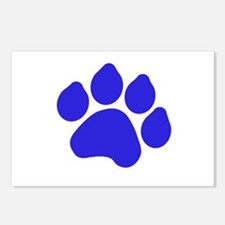 Blue Paw Print Postcards (Package of 8)