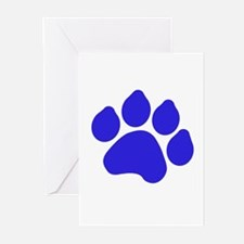 Blue Paw Print Greeting Cards (Pk of 20)
