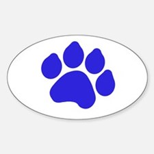 Blue Paw Print Decal