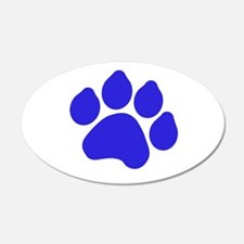 Blue Paw Print 22x14 Oval Wall Peel