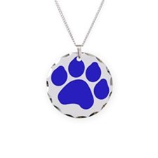 Blue Paw Print Necklace