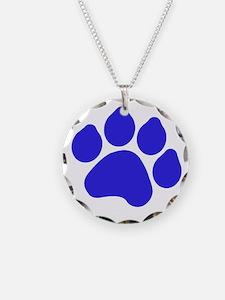Blue Paw Print Necklace