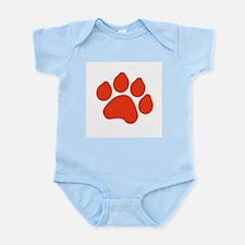 Red Paw Print Infant Bodysuit