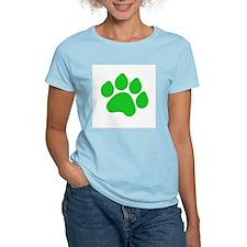 Green Paw Print T-Shirt