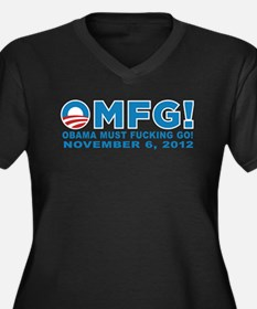 Anti Obama 2012 Women's Plus Size V-Neck Dark T-Sh