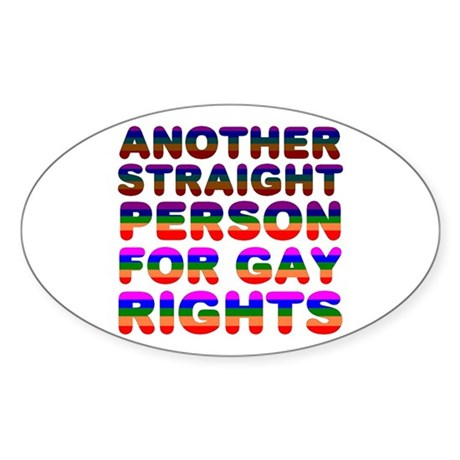 Pro Gay Rights Oval Sticker