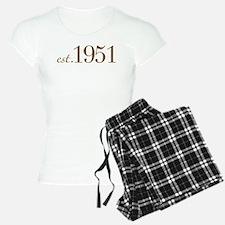 Est 1951 (Birth Year) Pajamas