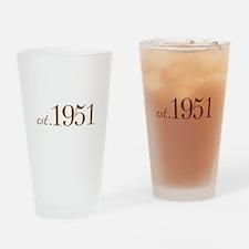 Est 1951 (Birth Year) Drinking Glass