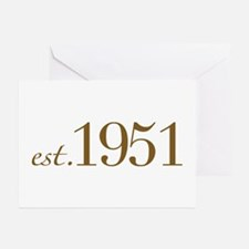 Est 1951 (Birth Year) Greeting Cards (Pk of 20)