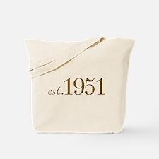 Est 1951 (Birth Year) Tote Bag