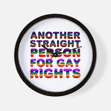 Pro Gay Rights Wall Clock