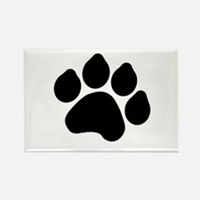 Paw Print Rectangle Magnet