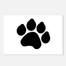 Paw Print Postcards (Package of 8)