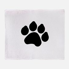 Paw Print Throw Blanket