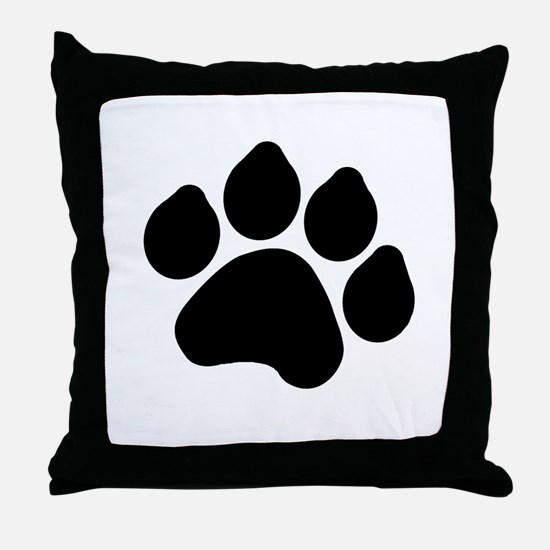 Paw Print Throw Pillow